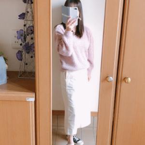 【UNIQLO】コーデュロイロングスカートで大人可愛いコーデ