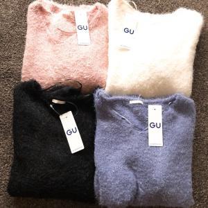 【GU】全色揃えた990円フェザーヤーンVネックセーター