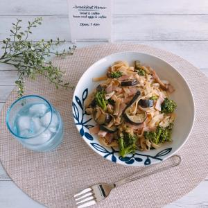 【lunch】お野菜たっぷりの和風パスタ