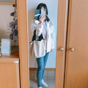 【UNIQLO】春色ピンクのワッフルTシャツでカジュアルコーデ/今日のランチ
