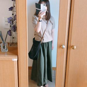 【GU】夏にもぴったりなカーキのAラインロングスカート