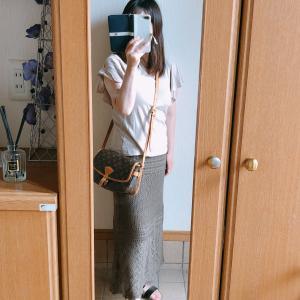 【しまむら】透かし編み模様のロングスカートで夏っぽく/ウッドのカトラリー