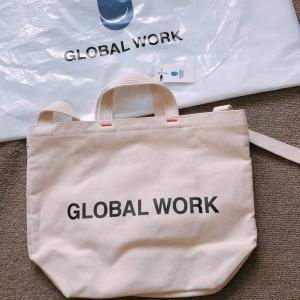 【GLOBAL WORK】アウトレットで購入したキャンバストートバッグ