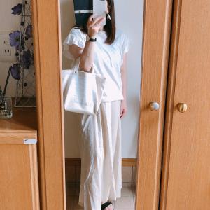【GU】リネンブレンドロングスカートでコーデ/ドラえもんin 3coins
