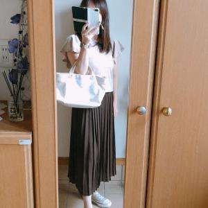 【UNIQLO】シフォンプリーツロングスカートで秋色コーデ/夕ごはん