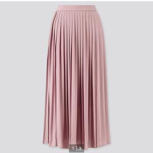 【UNIQLO】3色揃えたシフォンプリーツロングスカート
