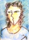 絵画<アトランダム>【ホモ・サピエンス】 <女性の肖像>(パステル) 油絵屋大哲‐公式ホームページ