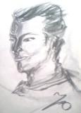 絵画<アトランダム>【ホモ・サピエンス】 <男性の肖像>(デッサン) 油絵屋大哲‐公式ホームページ