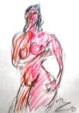 絵画<アトランダム>【ホモ・サピエンス】 <裸婦>(パステル) 油絵屋大哲‐公式ホームページ