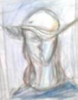 絵画<アトランダム>【ホモ・サピエンス】 <帽子をかぶった女性>(色鉛筆) 油絵屋大哲‐公式ホームページ
