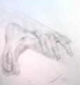 絵画<アトランダム>【ホモ・サピエンス】 <手と足>(デッサン) 油絵屋大哲‐公式ホームページ