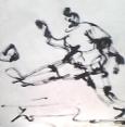 絵画<アトランダム> 「サッカー」(デッサン) 油絵屋大哲‐公式ホームページ