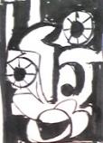 絵画<アトランダム> 「フェイス」(デッサン) 油絵屋大哲‐公式ホームページ