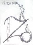 絵画<アトランダム> 「TO<TETSU.O>」(デッサン) 油絵屋大哲‐公式ホームページ