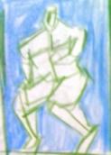 絵画<アトランダム> 「MAN」(デッサン) 油絵屋大哲‐公式ホームページ