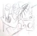 絵画<アトランダム> 「MUDAI」(デッサン) 油絵屋大哲‐公式ホームページ
