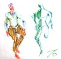 絵画<アトランダム> 「ダンス」(イメージデッサン) 油絵屋大哲‐公式ホームページ