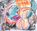 絵画<アトランダム> 「WOMAN」(半抽象) 油絵屋大哲‐公式ホームページ