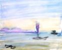 絵画<アトランダム> 「海景」(イメージ) 油絵屋大哲‐公式ホームページ