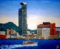 「関門・門司港風景」 『門司港レトロ』(油絵)F8号 油絵屋大哲‐公式ホームページ