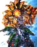 「向日葵」 油絵(F0号) 油絵屋大哲‐公式ホームページ