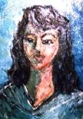 「女性の肖像」 油絵(F0号) 油絵屋大哲‐公式ホームページ