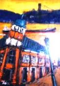 「旧大阪商船」 油絵(F4号) 油絵屋大哲‐公式ホームページ