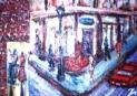 「メインストリート」(旧山城屋前) 油絵(SM号) 油絵屋大哲‐公式ホームページ