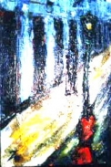 「出合い」(男と女とガス灯) 油絵(SM号) 油絵屋大哲‐公式ホームページ