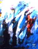 「出合い」幻・・・ 油絵(F3号) 油絵屋大哲‐公式ホームページ