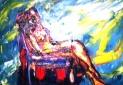 「裸婦座像」 油絵(SM号)¥40,000 油絵屋大哲‐公式ホームページ