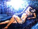 「横たわる裸婦」 油絵(F4号)¥80,000 油絵屋大哲‐公式ホームページ