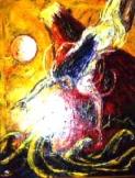「女神伝来」 油絵(F50号)¥750,000 油絵屋大哲‐公式ホームページ #油絵屋 #大哲 #画家 #公式HP #門司港レトロ #大正時代 #鬼滅の刃 門司港レトロ<大正浪漫>鬼滅の刃 門司港レトロ<大正時代>鬼滅の刃