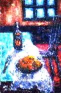 「リビング」 油絵(SM号)¥40,000 油絵屋大哲‐公式ホームページ #油絵屋 #大哲 #画家 #公式HP #門司港レトロ #大正時代 #鬼滅の刃 門司港レトロ<大正浪漫>鬼滅の刃 門司港レトロ<大正時代>鬼滅の刃
