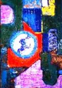 「地球創世記」(抽象) 油絵(SM号)¥40,000 油絵屋大哲‐公式ホームページ #油絵屋 #大哲 #画家 #公式HP #門司港レトロ #大正時代 #鬼滅の刃 門司港レトロ<大正浪漫>鬼滅の刃 門司港レトロ<大正時代>鬼滅の刃