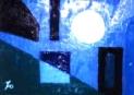 「白い太陽」(半抽象) 油絵(SM号)¥40,000 油絵屋大哲‐公式ホームページ #油絵屋 #大哲 #画家 #公式HP #門司港レトロ #大正時代 #鬼滅の刃 門司港レトロ<大正浪漫>鬼滅の刃 門司港レトロ<大正時代>鬼滅の刃