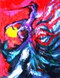 「火の鳥伝説」(半抽象) 油絵(F3号)¥60,000 油絵屋大哲‐公式ホームページ #油絵屋 #大哲 #画家 #公式HP #門司港レトロ #大正時代 #鬼滅の刃 門司港レトロ<大正浪漫>鬼滅の刃 門司港レトロ<大正時代>鬼滅の刃
