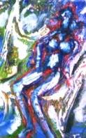 「ダンス」(半抽象) 油絵(SM号)¥40,000 油絵屋大哲‐公式ホームページ #油絵屋 #大哲 #画家 #公式HP #門司港レトロ #大正時代 #鬼滅の刃 門司港レトロ<大正浪漫>鬼滅の刃 門司港レトロ<大正時代>鬼滅の刃