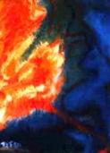 「地球創世記」(半抽象) 油絵(F0号)¥30,000 油絵屋大哲‐公式ホームページ