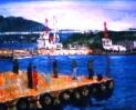 「安らぎの関門海峡」 油絵(F10号)¥200,000 油絵屋大哲‐公式ホームページ #油絵画家 #門司港 #関門海峡