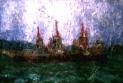 「雨の関門海峡」 油絵(SM号)¥40,000 油絵屋大哲‐公式ホームページ #油絵画家 #門司港 #関門海峡