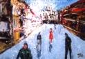 「浪漫街道」(門司港) 油絵(SM号)¥40,000 油絵屋大哲‐公式HP #油絵画家 #門司港 #関門海峡