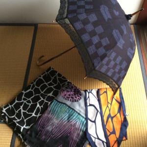 フリマで余所行きの日傘を…