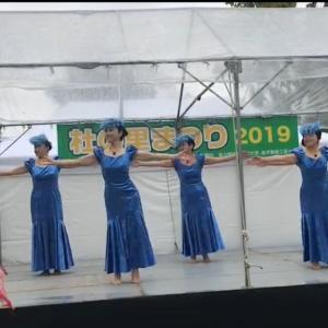 雨の杜の里祭りで踊りました