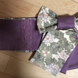 解き布で作る半幅帯
