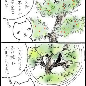 4コママンガ48 「秋のカラス」