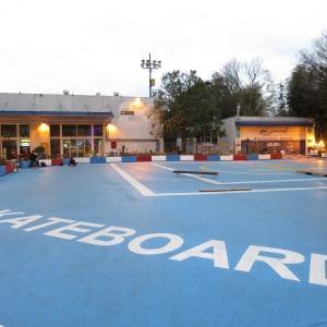 早朝大慶園スケートボード