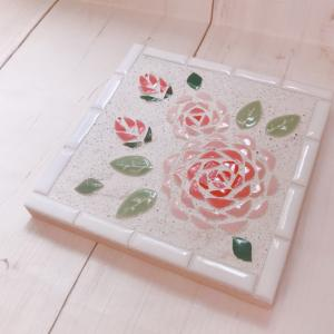 お庭にある薔薇をモザイク画に!