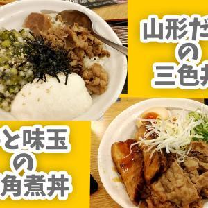 【終了】山形だしの三色丼・牛と味玉の豚角煮丼【2020年夏、松屋の期間限定メニュー】