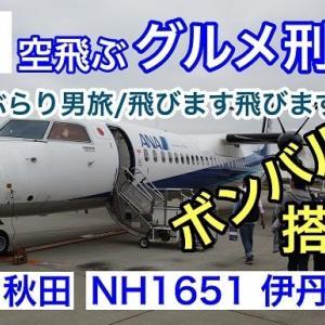 #001 秋田ぶらり男旅/飛びます飛びますの巻(NH1651伊丹→秋田 ボンバルディアDHC8-Q400 搭乗記)